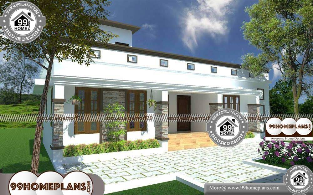 House Front Elevation Designs For Single Floor - Single Story 940 sqft-Home