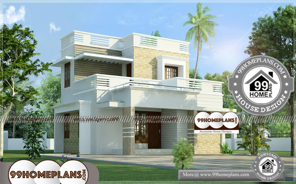 House Outside Design In Indian - 2 Story 1280 sqft-Home