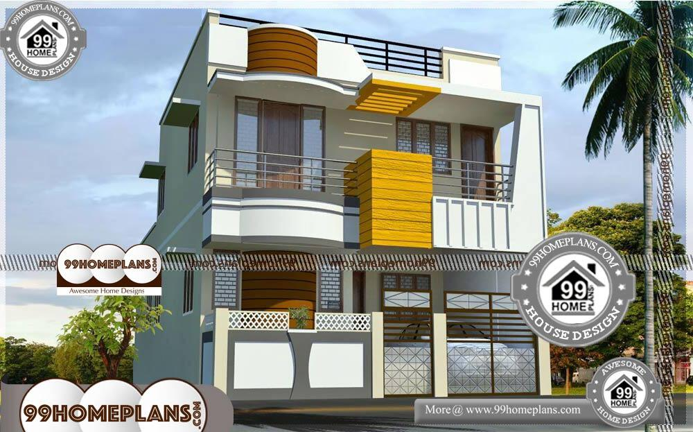 House Plan 3d View with Exterior Elevations | 50 Double Storey Designs