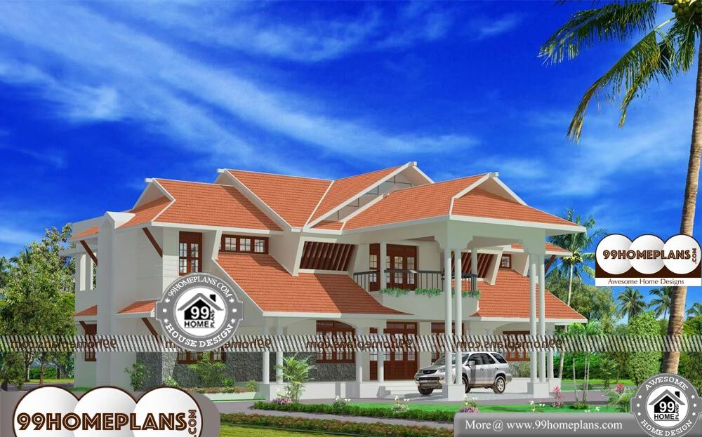 House Plan and Elevation Photos - 2 Story 5200 sqft-Home