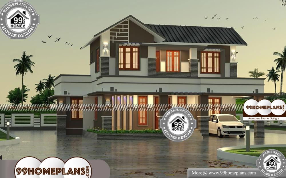 House Plans With Garage In Front 75 Double Storey House Elevation