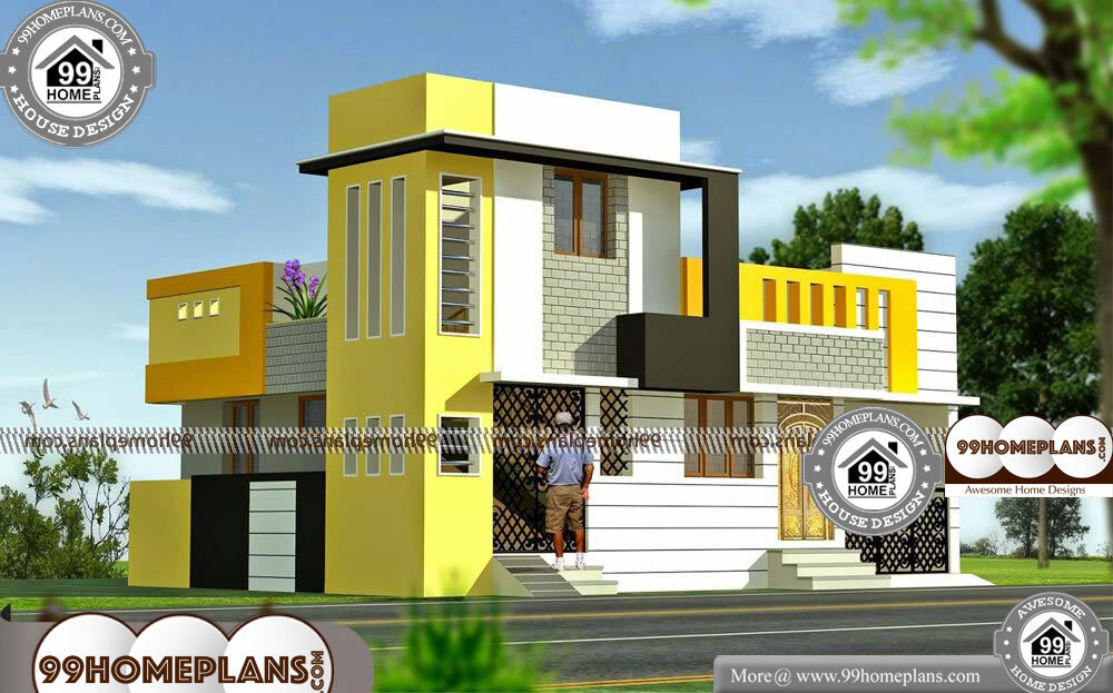 Indian Home Elevations - 2 Story 960 sqft-Home