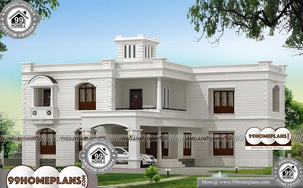 Indian Home Front Elevation Design - 2 Story 3400 sqft-Home