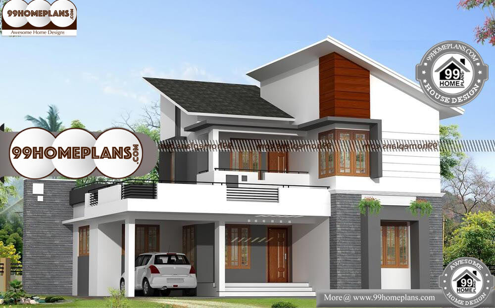 Indian House Outlook Design   2 Story 1878 Sqft Home