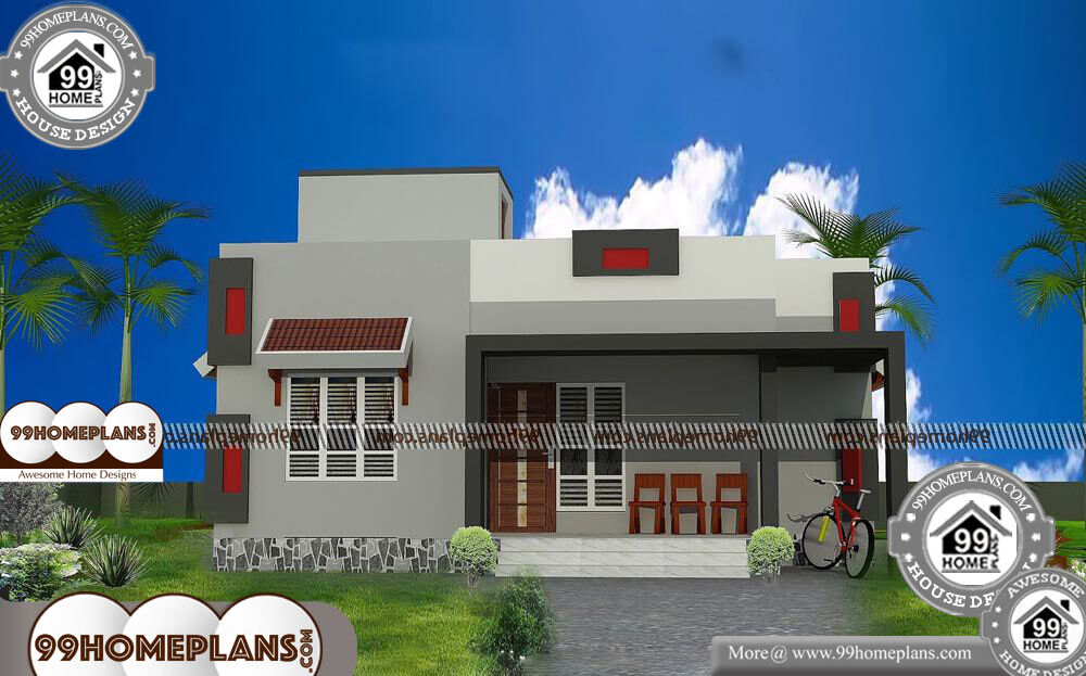 Kerala Home Design Plans with Photos - Single Story 921 sqft-Home