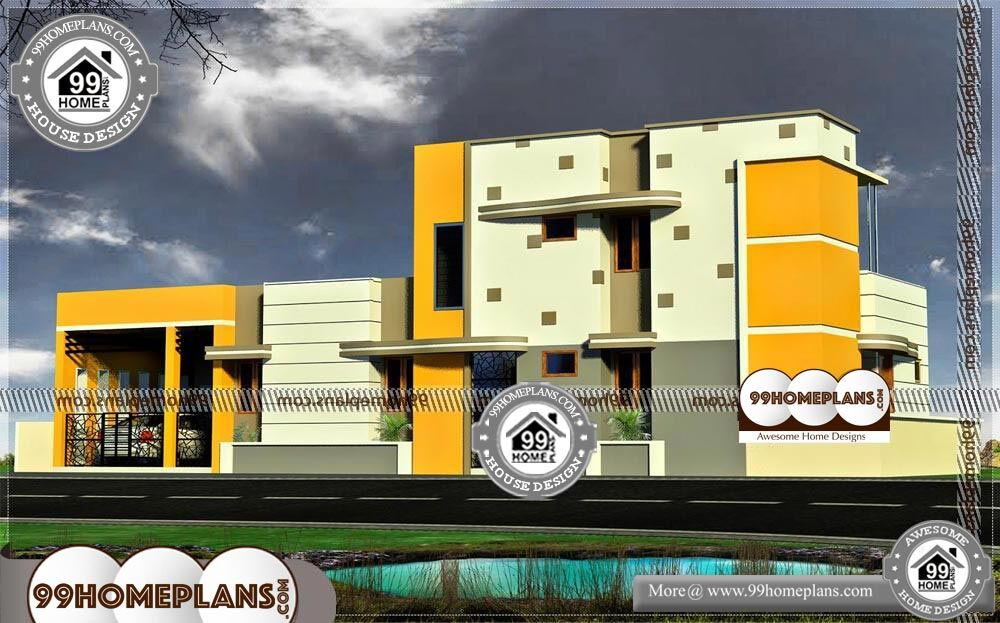 Latest Front Elevation Designs - 2 Story 2146 sqft-Home