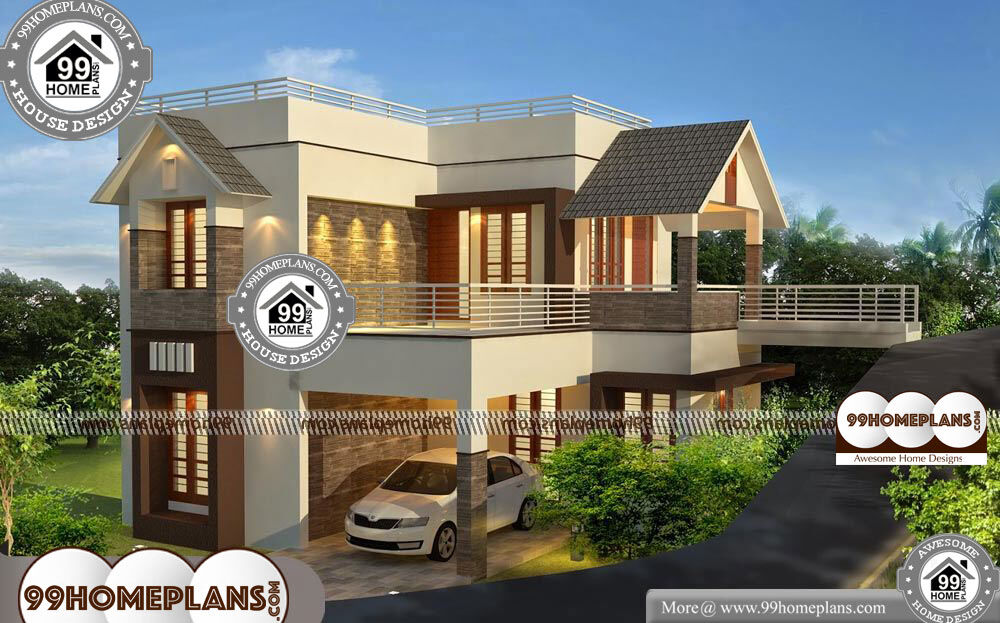 Low Cost House Designs and Floor Plans 2 Story 1510 sqft Home - 40+ Low Cost Small Two Storey House Plans With Balcony Background
