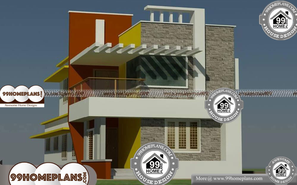 Kerala Style Low Cost Double Storied Home: Low Cost House Plans With Photos In Kerala