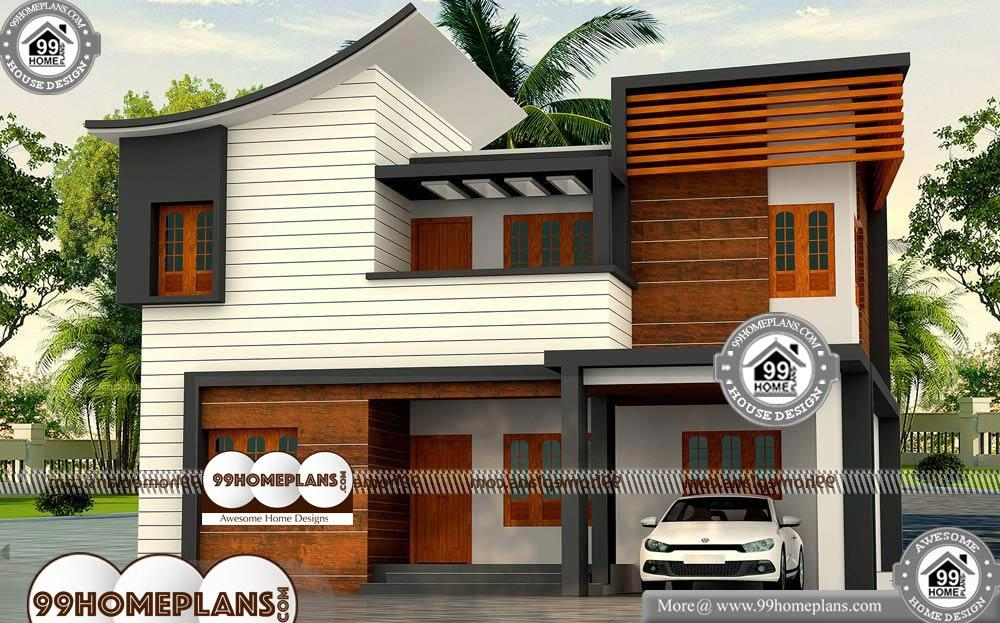 Low Cost Kerala House Plans with Photos - 2 Story 1900 sqft-Home