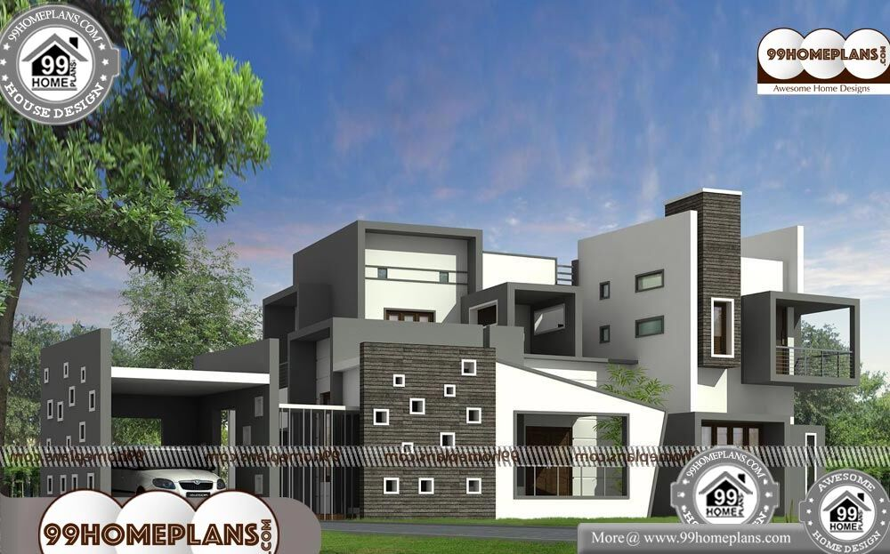 Luxury Contemporary House Plans - 2 Story 3680 sqft-Home