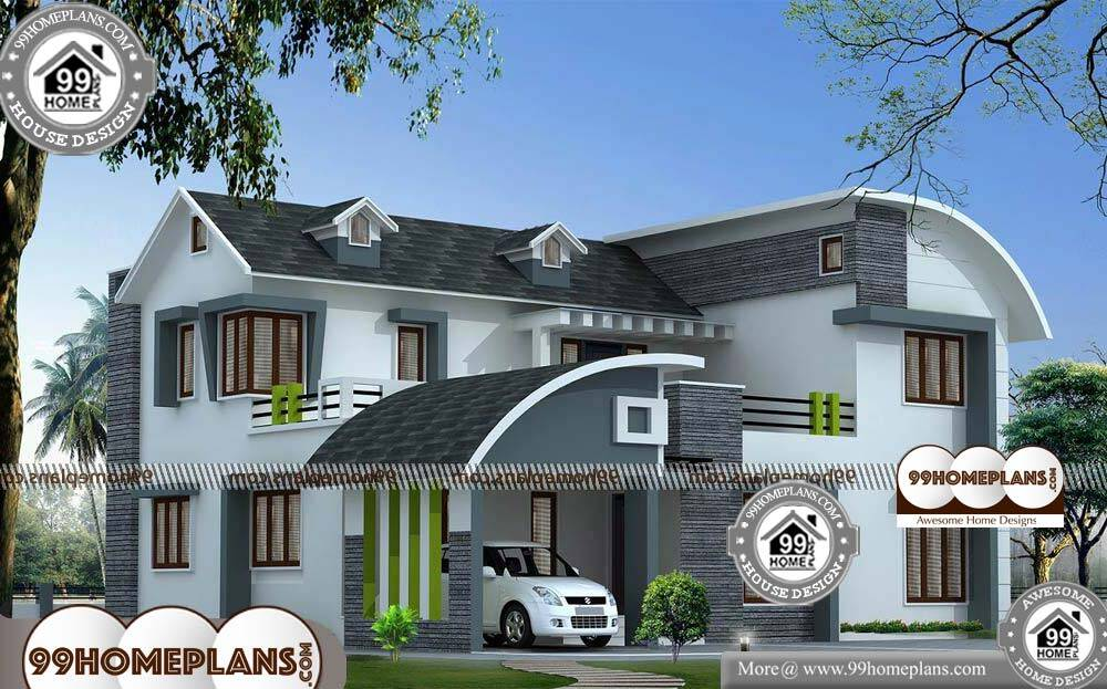Modern House Architecture Plans - 2 Story 2200 sqft-Home