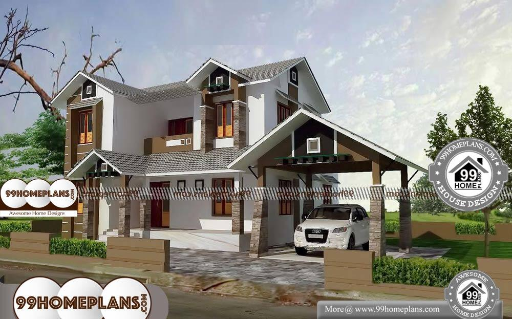 Small Modern 2 Story House Plans - 2 Story 2109 sqft-Home