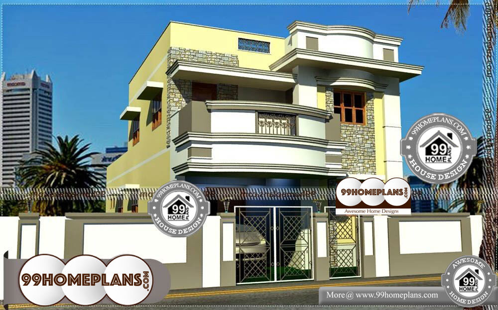 New House Elevation Designs - 2 Story 2105 sqft-Home