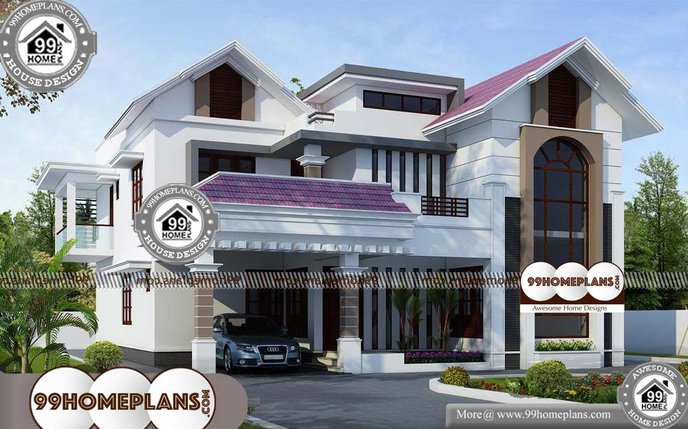 New House Front Elevation Designs - 2 Story 3756 sqft-Home