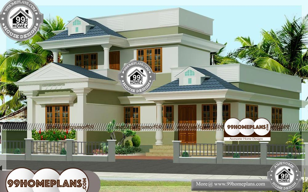 New Small Home Plans - 2 Story 1388 sqft-Home