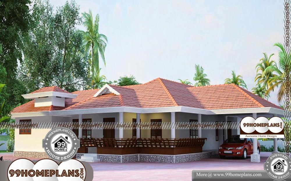 One Bedroom Cottage Plans - Single Story 2075 sqft-Home