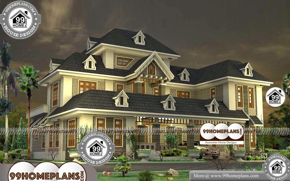Simple Bungalow House Plans - 2 Story 3000 sqft-Home