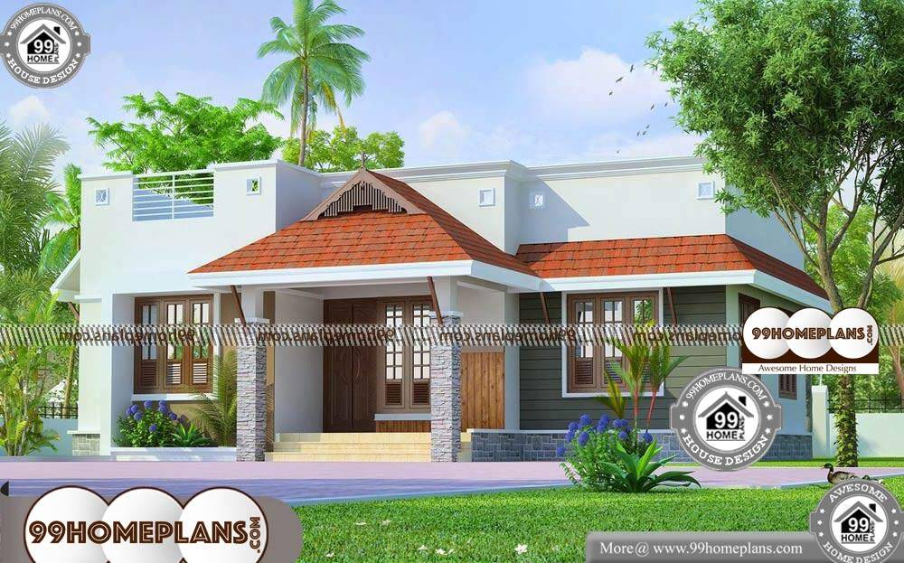 Single Floor House Elevation Models - Single Story 868 sqft-Home