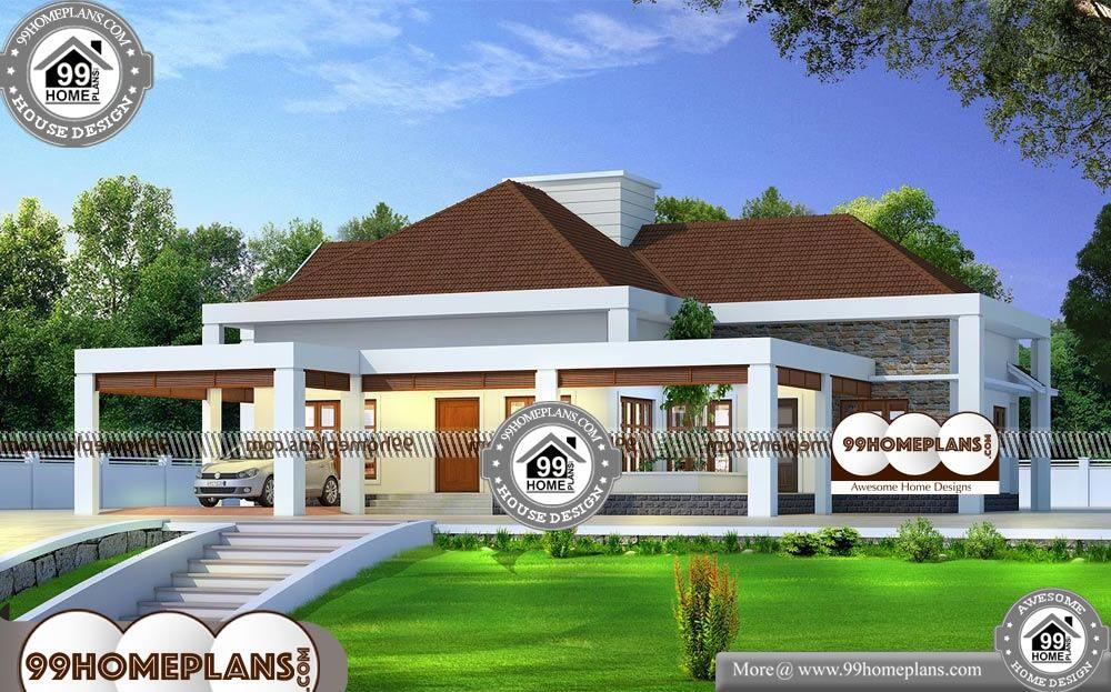 Single Level House Designs - One Story 3000 sqft Home