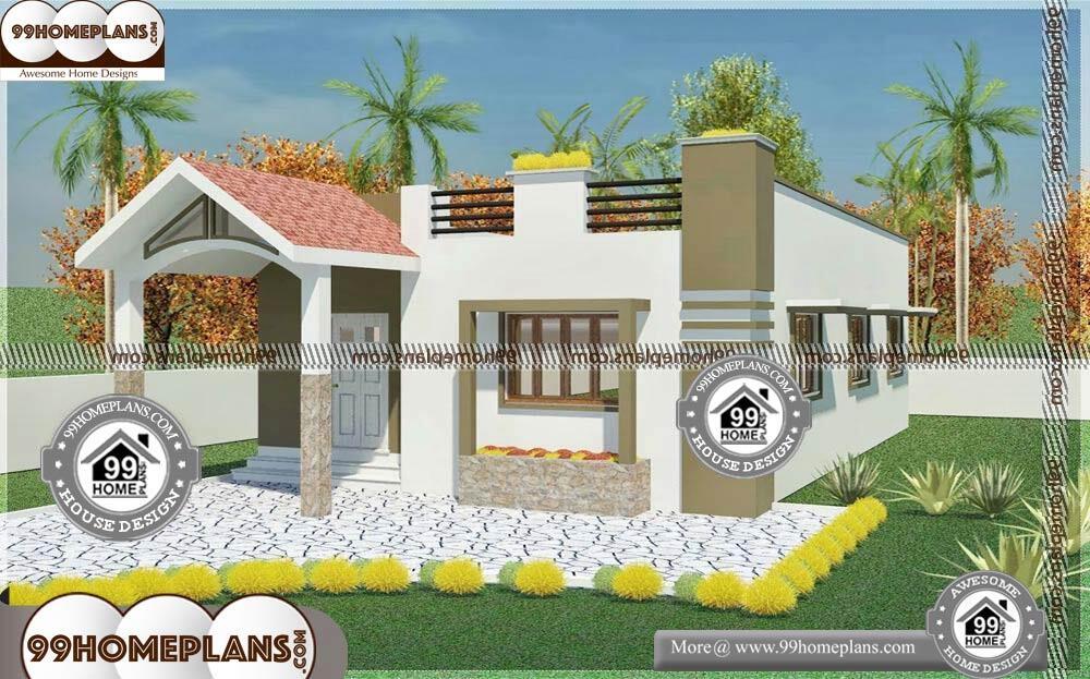 Single Level House Plans - Single Story 740 sqft-Home