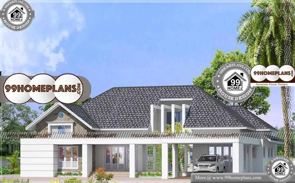 Single Story House Designs and Floor Plans - One Story 2990 sqft- HOME