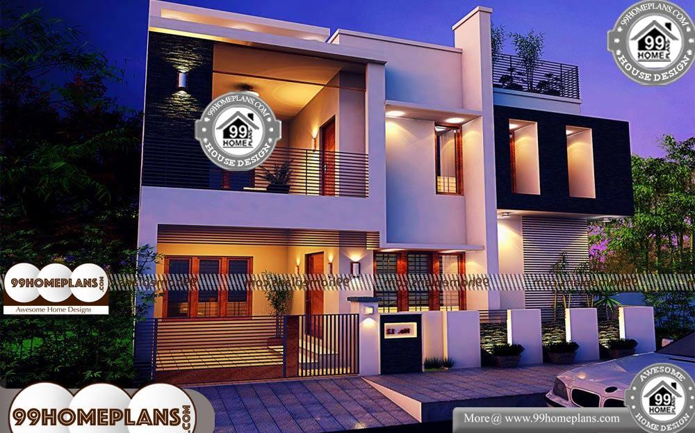 Small Block House Designs - 2 Story 1633 sqft-Home