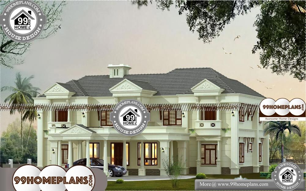 Small Bungalow Floor Plans - 2 Story 4000 sqft-Home