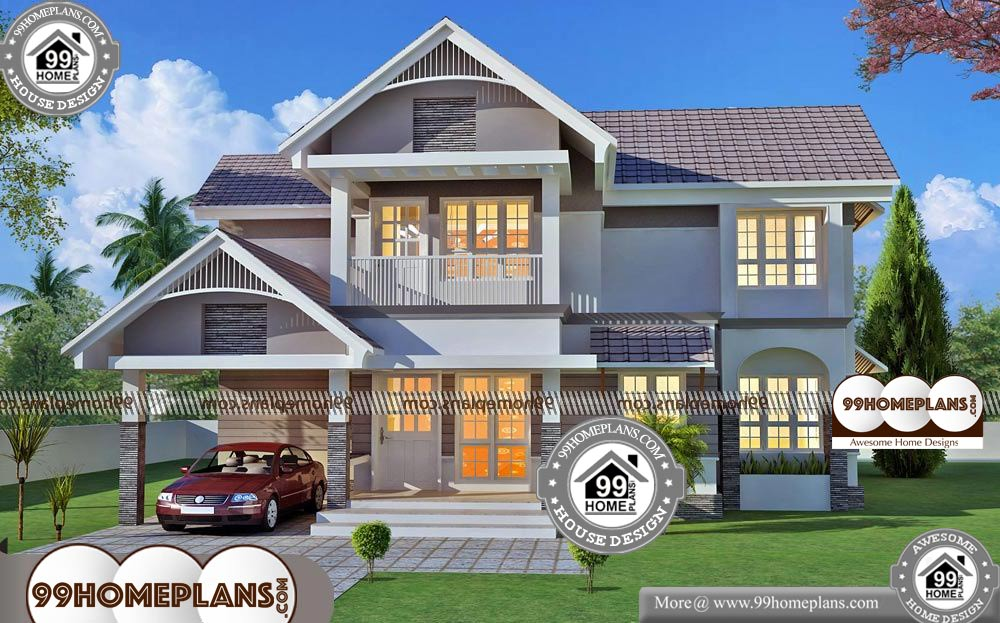 Small House Elevation Designs - 2 Story 2052 sqft-Home