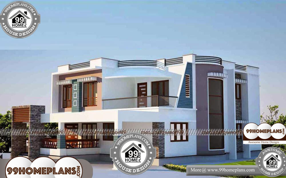 Small House Plans in Kerala Style - 2 Story 3100 sqft-Home