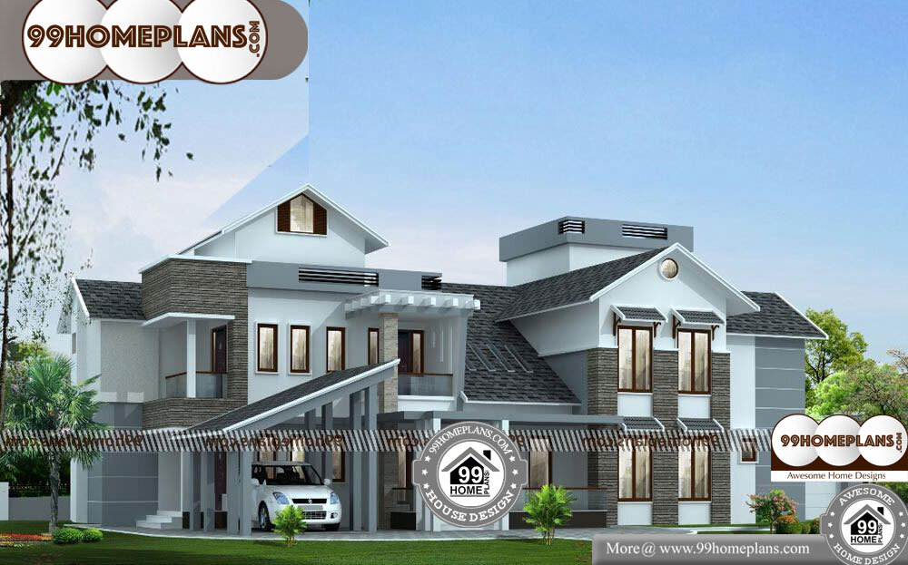 South West Facing House Plan - 2 Story 3700 sqft-Home