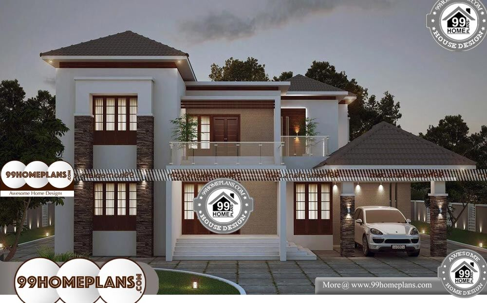 Two Storey Homes With Balcony - 2 Story 3679 sqft-Home