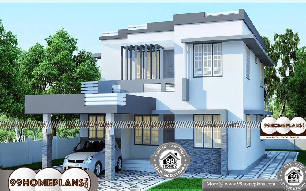 Two Storey Narrow Lot House Plans - 2 Story 1900 sqft-Home