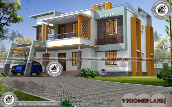 Best Home Elevation Design Plans | 50+ Simple 2 Storey House Design