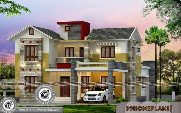 Budget home plans in kerala style 3d house elevation for 2100 sf house plans