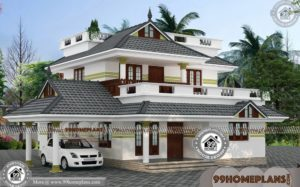 Double Storey House Plans For Narrow Blocks | Low Budget Home Design