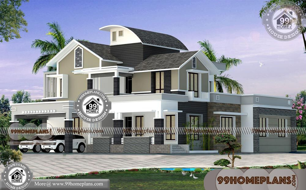 exterior elevation design with modern two story homes 99 home plans On 99 home design