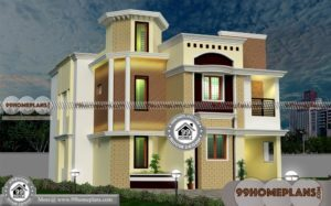 Four Bedroomed House Plans | 59+ New Kerala Style Home Designs Plan