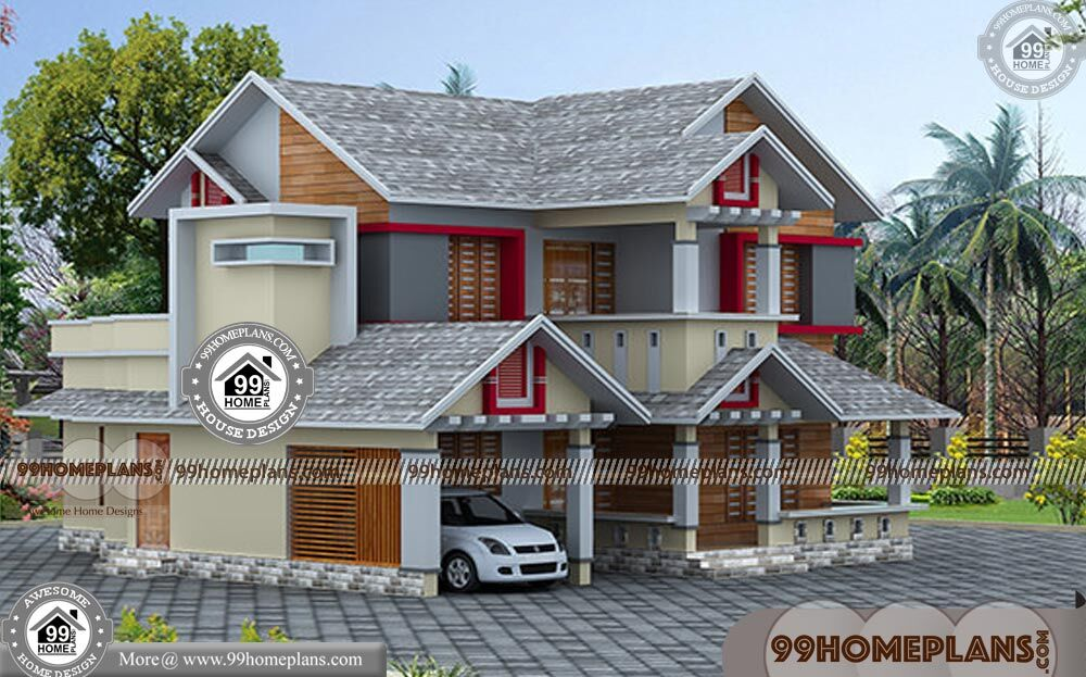 3d Front Elevation Ground Floor : Front design of house double storey with d