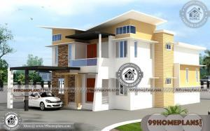 Front Elevation Designs in India 50+ Two Storey Villa Design Collections