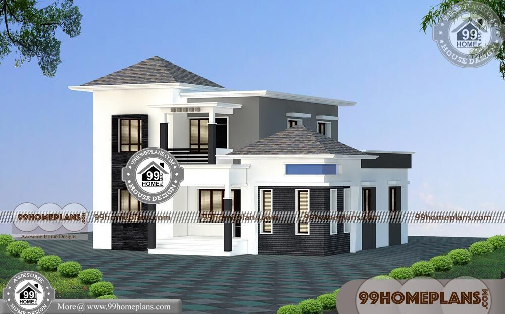Front Elevation With Balcony : Front elevation ideas storey house designs with