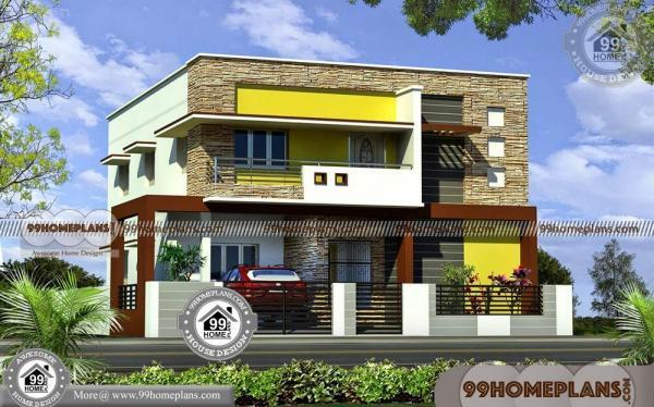 Double Floor Front Elevation : Front elevation of small indian houses double storey