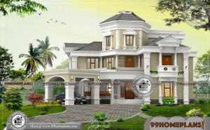 Home Design Bungalow with 450+ Modern Three Floor House Design