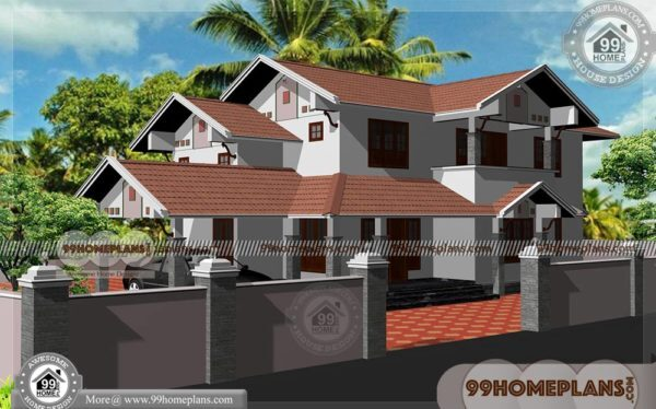 Home Elevation Ideas   75+ Small Double Story House Design Collections