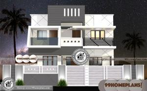 Home Plans For Small Lots with Double Story Homes 3D Elevation Plans