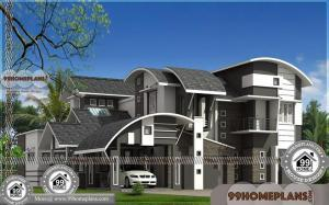 House Plan and Elevation in Kerala Style 90+ 2 Level House Plans Free