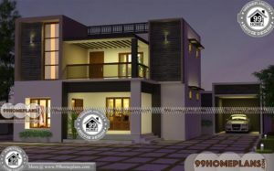 House Plans for Small Plots 75+ Two Story Small House Design Online