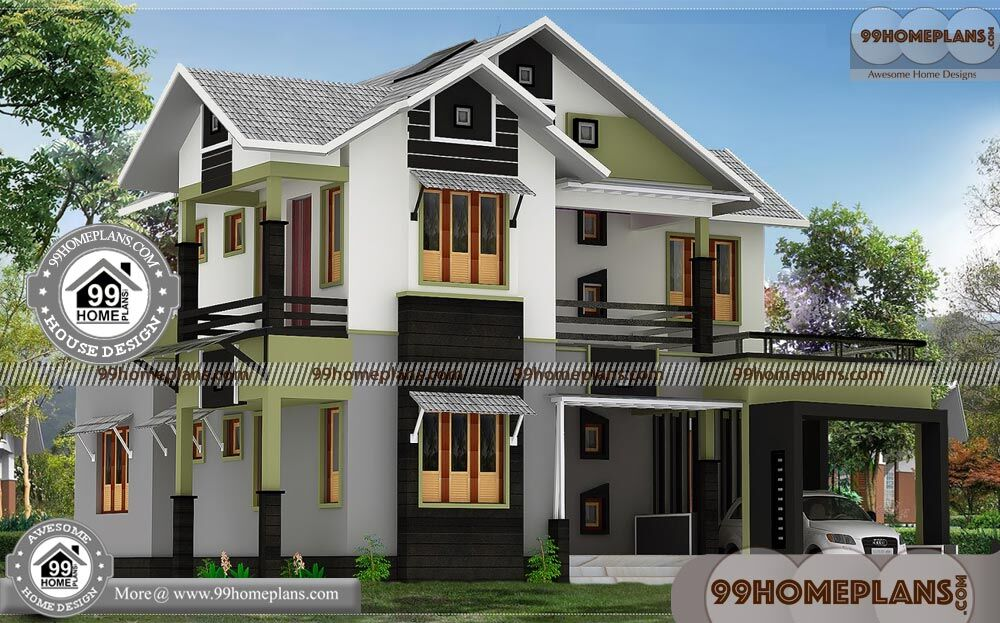 House Plans Modern Design   100+ Small Double Storey House Plans