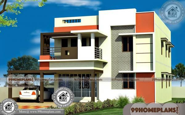 How To Design Home Front Elevation : Indian duplex house elevation designs two story