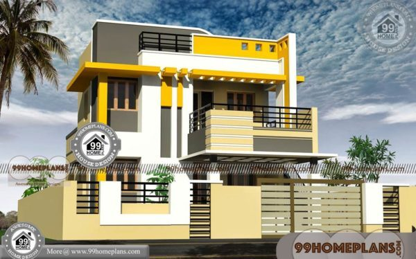 Indian Home Front Elevation 450 Modern Double Storey House Designs