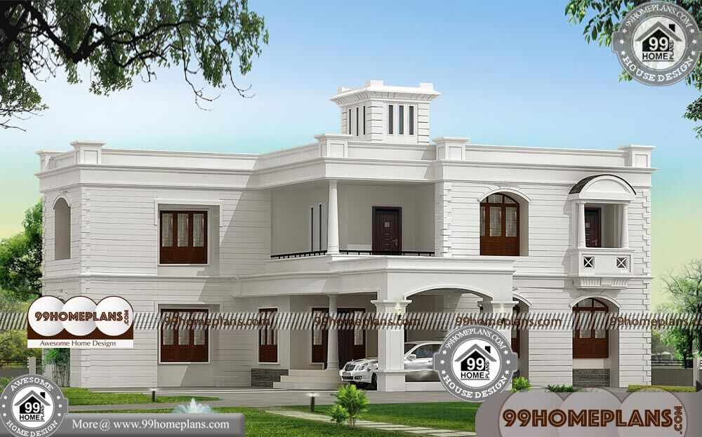 Front Elevation Of Luxury Homes : Indian home front elevation design luxury house plans